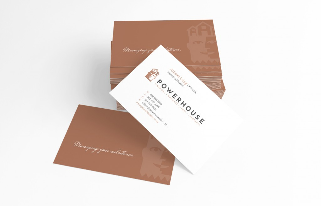 Powerhouse business card design
