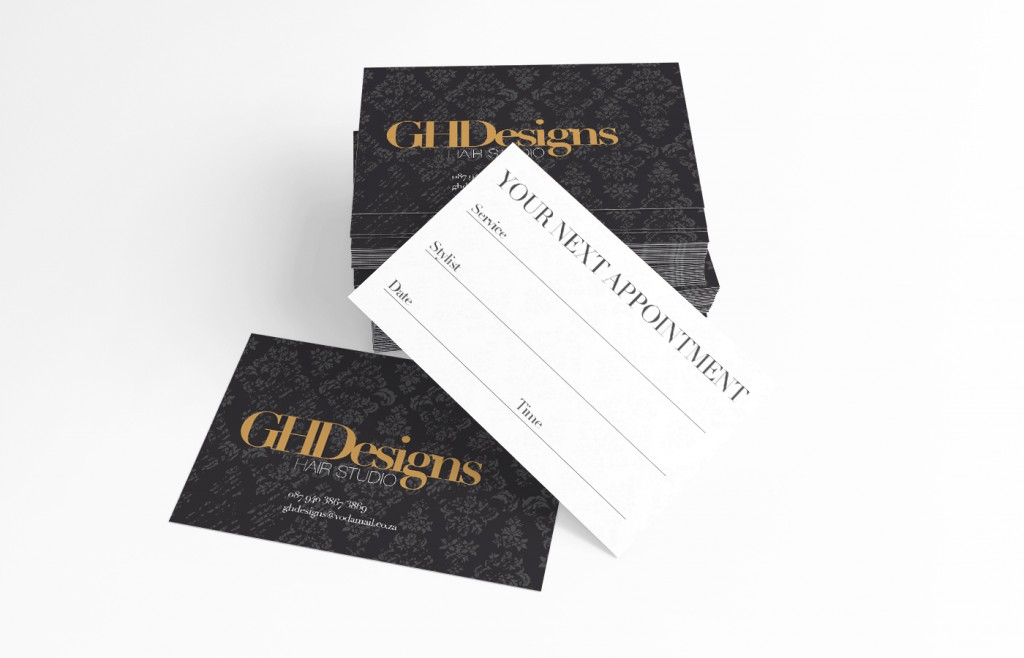 GH Designs Appointment Card Design