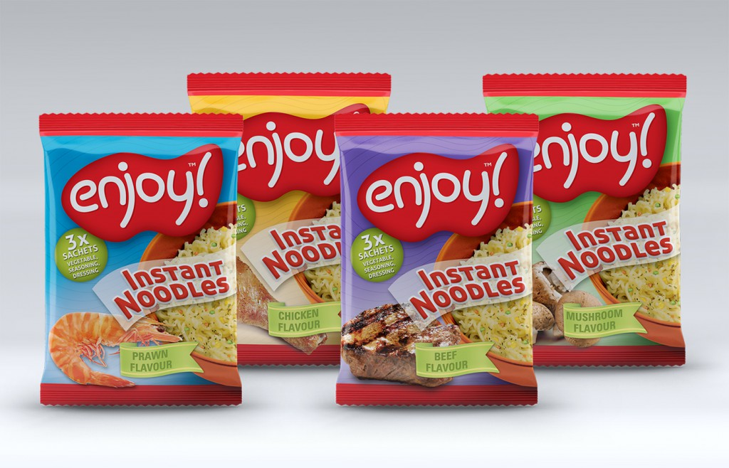 Enjoy Instant Noodles Packaging Design