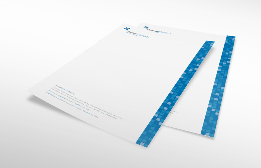 Mutual Interests Letterhead Design