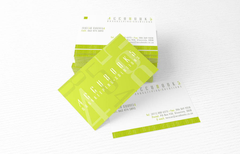 Accubooks Business Card Design