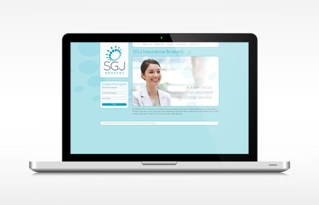 SGJ Brokers Website Design