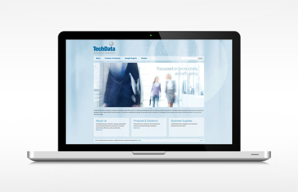 Techdata Website Design