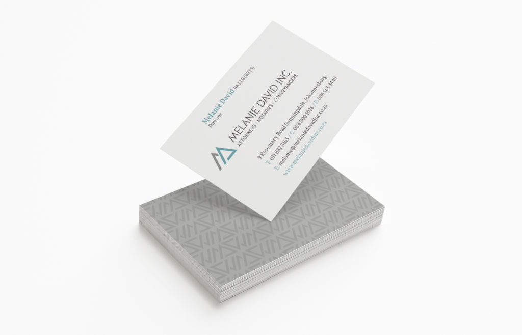 Melanie David Inc. Business Card Design