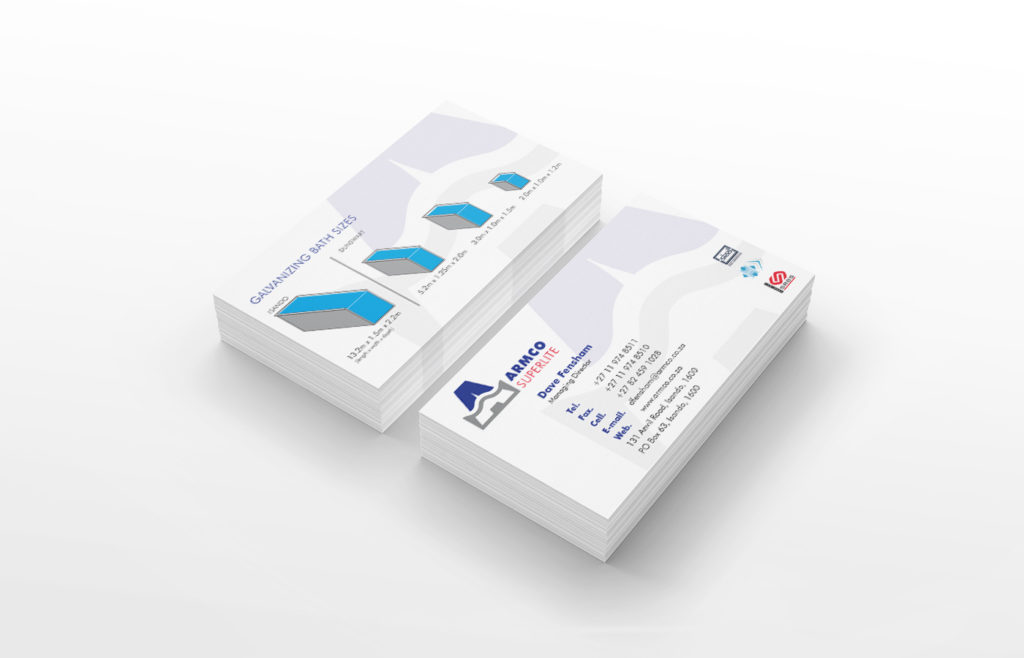 Armco Superlite Business Card Design