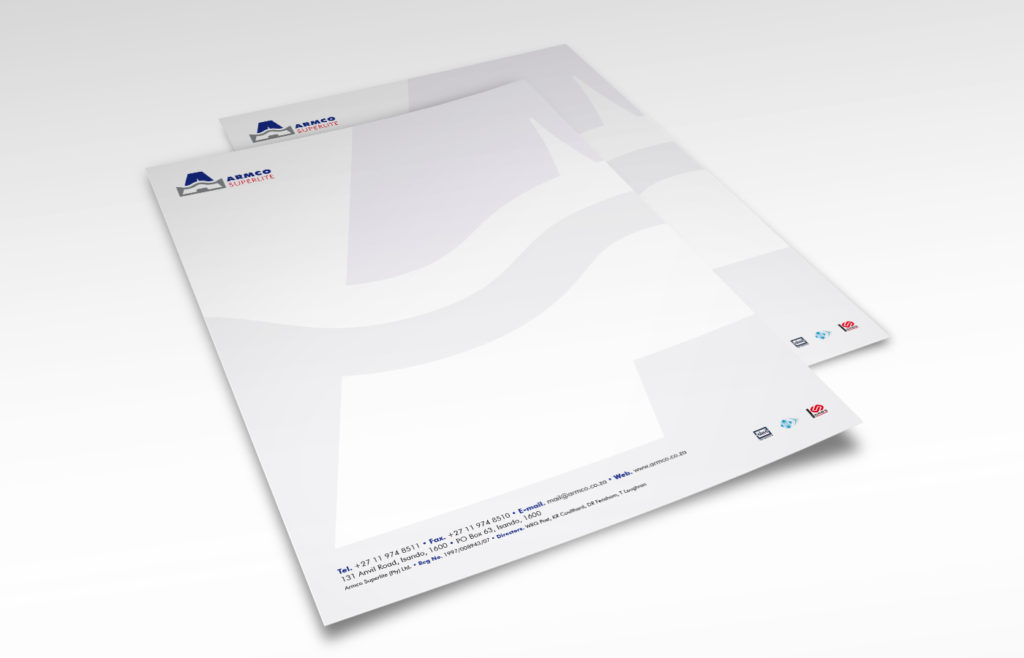 Armco Superlite Letterhead Design