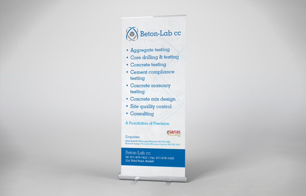 Beton Lab Pull-up Banner Design