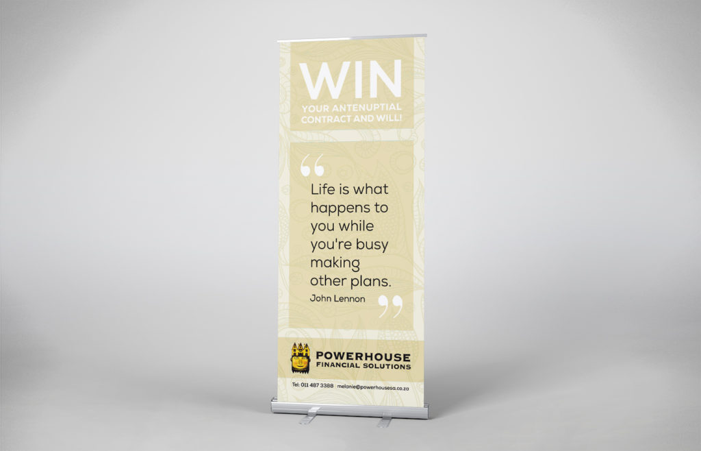 Powerhouse Pull-up Banner Design
