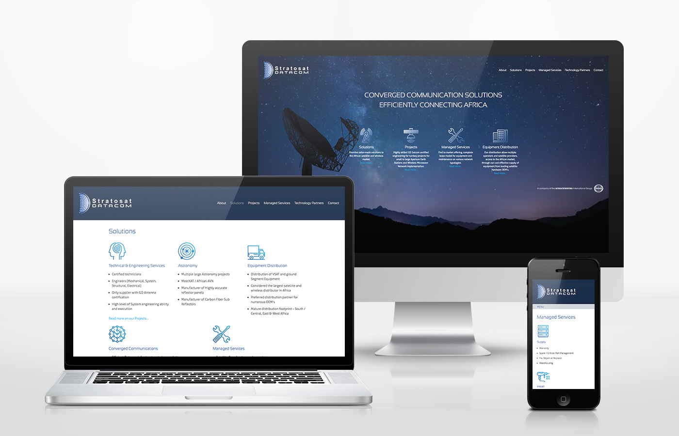 Stratosat WordPress Design and Developement