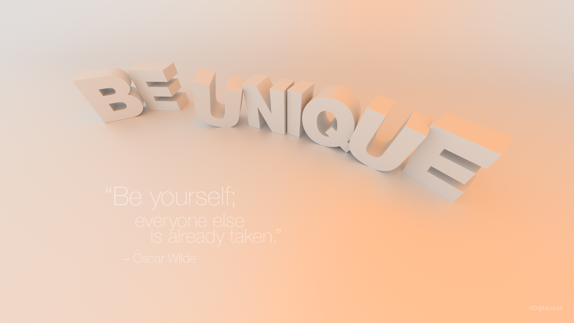Be Unique - Wallpaper Freebie