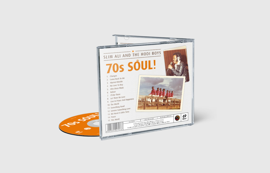 Slim Ali - 70s Soul CD Sleeve Design