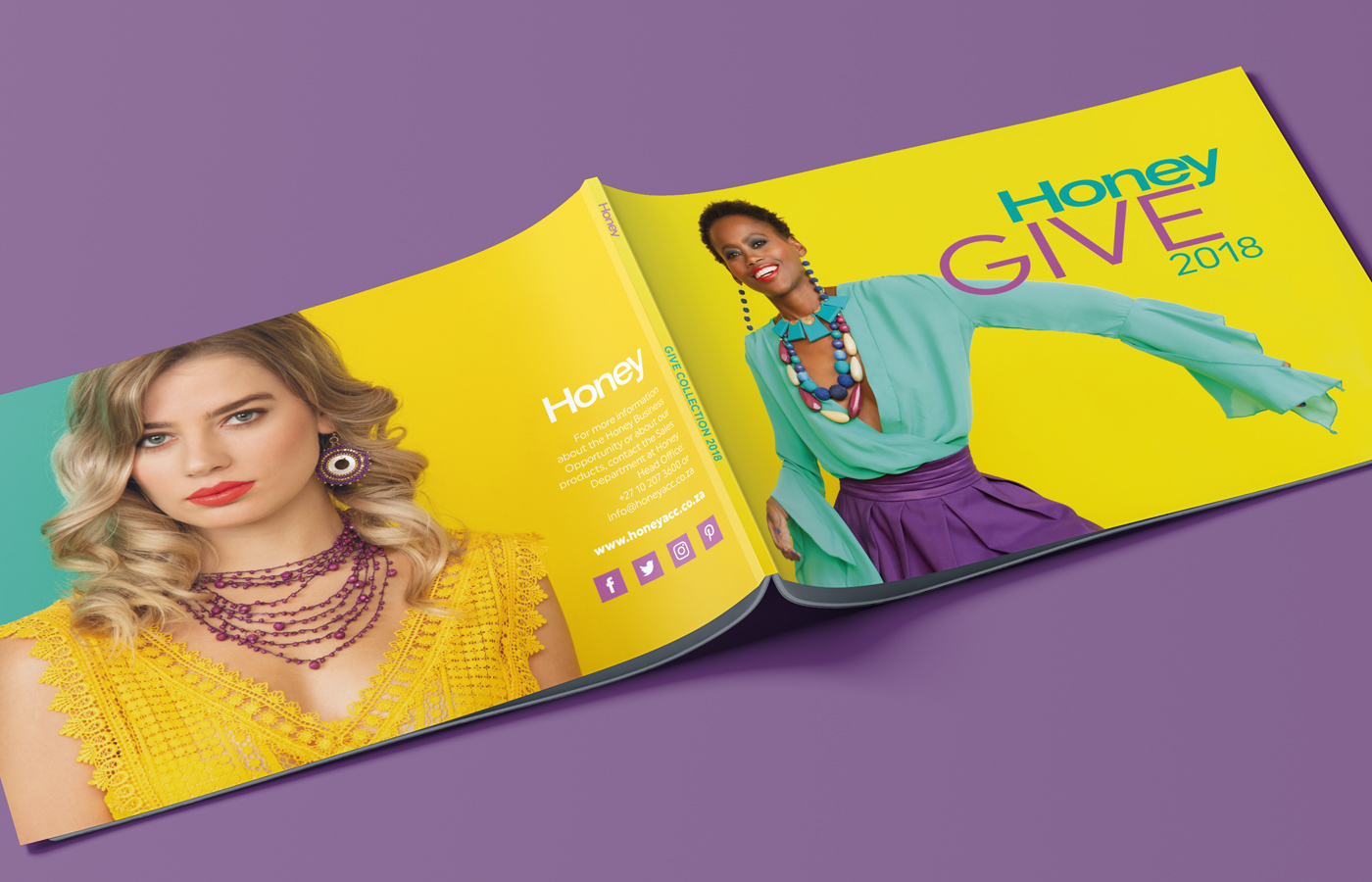 Honey Give 2018 Catalogue Photography and Design